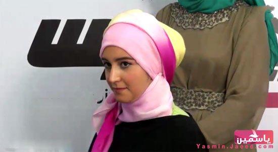 طريقة لفة طرحة الحجاب يومي بقطعتين
